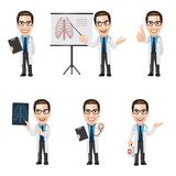 Set of Doctor Character in 6 Different Poses. Illustration of doctor character in 6 different poses. High resolution JPG, PNG transparent background and AI files Royalty Free Stock Photography