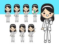 Illustration for doctor.Cute style stock illustration