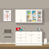 Illustration of a doctor office stock illustration