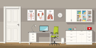Illustration of a doctor office. Illustration of a modern doctor office Stock Images