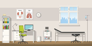Illustration of a doctor office. Illustration of a modern doctor office Royalty Free Stock Image