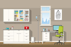 Illustration of a doctor office royalty free illustration