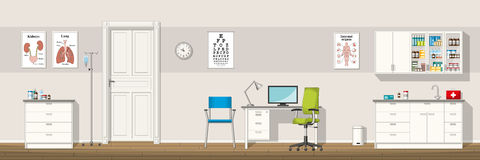 Illustration of a doctor office Royalty Free Stock Photography