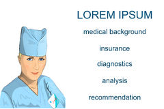 Illustration of doctor woman Stock Images