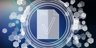 Concept of document validation stock photo
