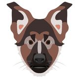 Illustration Dog German shepherd dog Stock Images