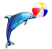 Illustration with dolphin Royalty Free Stock Photography