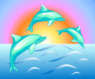 Illustration of the dolphins Royalty Free Stock Photos