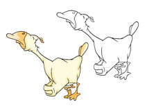 Illustration of Domestic Geese Cartoon Character Stock Image