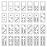 Illustration of domino set Stock Photos