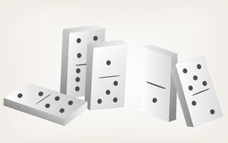 Illustration dominoes Royalty Free Stock Photography