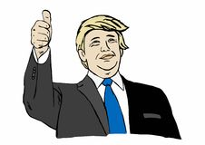 Illustration on Donald Trump running for president Royalty Free Stock Photo