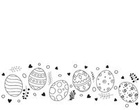 Doodle of easter eggs set collection on white background. Illustration of Doodle of easter eggs set collection on white background royalty free illustration