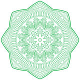 An illustration of doodle Hinduism religion Mandala decorative, Stock Image