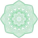 An illustration of doodle Hinduism religion Mandala decorative, Stock Image