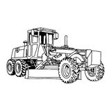 Illustration  doodles hand drawn of excavator grader machi Royalty Free Stock Image
