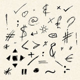 Illustration of doodles on lined paper Stock Photos