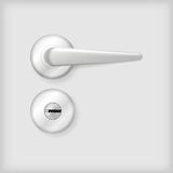 Illustration of door handle and lock Royalty Free Stock Images