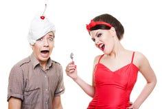Illustration drôle des couples Image stock