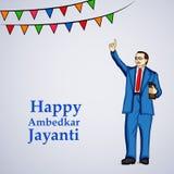 Illustration of Dr. Ambedkar Jayanti Background. Illustration of Dr. Ambedkar statue on the occasion of Dr. Ambedkar Jayanti Stock Photo