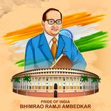 Dr Bhimrao Ramji Ambedkar with Constitution of India for Ambedkar Jayanti on 14 April. Illustration of Dr Bhimrao Ramji Ambedkar with Constitution of India for Royalty Free Stock Photo