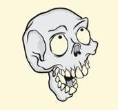 Illustration drôle de tête de crâne photo stock