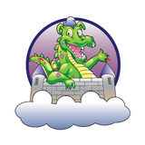 Illustration dragon and castle Royalty Free Stock Photography