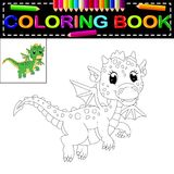 Dragon coloring book. Illustration of dragon coloring book Stock Photography