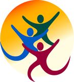 Couple logo. Illustration drawing art a couple logo with white background Royalty Free Stock Photos