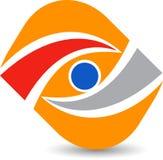 Optics eye care logo. Illustration drawing art a Optics eye care logo with white background royalty free illustration