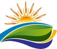 Summer logo design. Illustration drawing art a summer logo design with white background Stock Photo