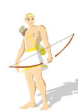 Greek god Apollo. An Illustration drawing of the Greek god Apollo is isolated Stock Photo