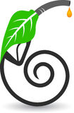Leaf petroleum logo. Illustration drawing of a leaf petroleum logo with isolated background Royalty Free Stock Photo