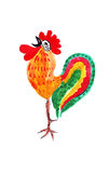 Illustration drawing of a rooster in the style of the sketch Royalty Free Stock Photography