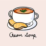 Illustration drawing style of soup Royalty Free Stock Photography