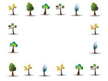 Illustration drawing of tree. On white background Stock Image