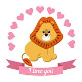 Illustration drawn by animal declaration of love Royalty Free Stock Photography