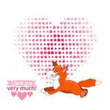 Illustration drawn by animal declaration of love Royalty Free Stock Images