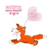 Illustration drawn by animal declaration of love Stock Photos