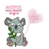 Illustration drawn by animal declaration of love Royalty Free Stock Photos