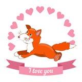 Illustration drawn by animal declaration of love Stock Image