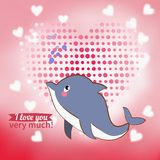 Illustration drawn by animal declaration of love Stock Photo