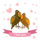 Illustration drawn by animal declaration of love Stock Images