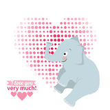 Illustration drawn by animal elephant declaration of love Royalty Free Stock Photography