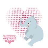 Illustration drawn by animal elephant declaration of love Royalty Free Stock Photography