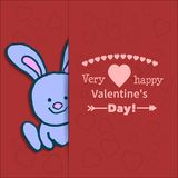 Illustration drawn by animal hare declaration of love Royalty Free Stock Photo