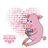 Illustration drawn by animal pig declaration of Stock Photography