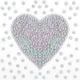 Grey love heart on white background. Abstraction. vector illustration