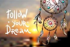 Illustration of dreamcatcher Stock Photos