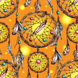 Illustration of dreamcatcher Royalty Free Stock Photography